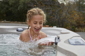 Freeflow Spas Features Include Waterfall and Digital Control Panel