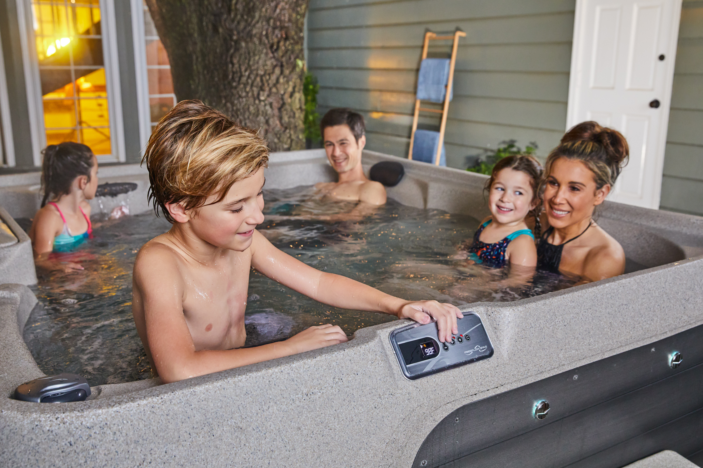 Freeflow Spas Offer Valuable Together Time with Room for the Whole Family
