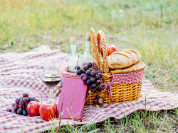Pack a blanket, drinks, and some delicious food and spend the day outside at the park.