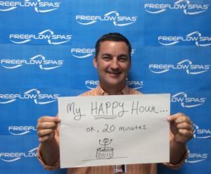 My happy hour...ok, 20 mintues