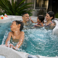 Family time in a Freeflow Spa